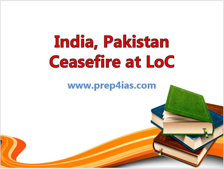 Peace Agreement: India, Pakistan Ceasefire at LOC(Line of Control)